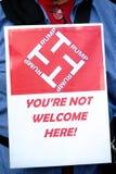 Anti Donald Trump Rally a Londra centrale immagini stock