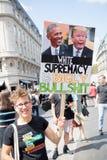 Anti Donald Trump Rally a Londra centrale fotografia stock