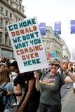 Anti Donald Trump Rally a Londra centrale immagini stock libere da diritti
