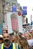 Anti Donald Trump Rally a Londra centrale immagine stock libera da diritti