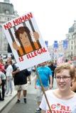 Anti Donald Trump Rally a Londra centrale fotografia stock libera da diritti