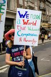 Anti Donald Trump Rally a Londra centrale fotografie stock libere da diritti