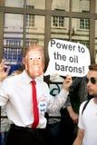 Anti-Donald Trump Rally in zentralem London stockbilder