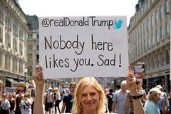 Anti-Donald Trump Rally in zentralem London lizenzfreie stockfotos