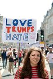 Anti-Donald Trump Rally in zentralem London lizenzfreies stockfoto