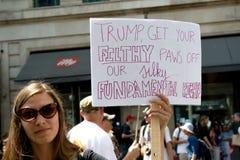 Anti-Donald Trump Rally in zentralem London stockfoto