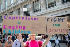 Anti-Donald Trump Rally in zentralem London stockfotografie