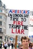 Anti-Donald Trump Rally in zentralem London stockbild