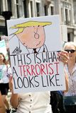 Anti-Donald Trump Rally in zentralem London lizenzfreie stockfotografie
