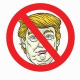 Anti Donald Trump Sign. Vector Illustration. November 2, 2017 Stock Image