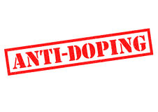 ANTI-DOPING Stock Images