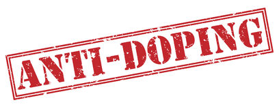 Anti doping red stamp Royalty Free Stock Photography