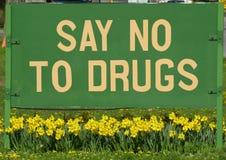 anti drogtecken royaltyfria bilder