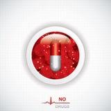 Anti drug medical background Stock Photography