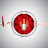 Anti drug medische achtergrond royalty-vrije illustratie