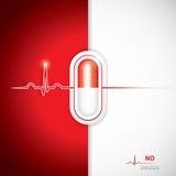 Anti drug medische achtergrond vector illustratie