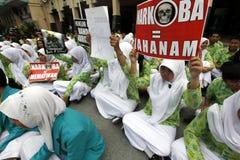 Anti-drug rally Stock Image