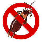 Anti earwig sign Royalty Free Stock Image