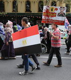 Anti-Egyptian Government protestors in Sydney Stock Photography