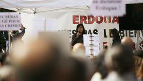 Anti Erdogan protest stock video