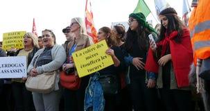 Anti Erdogan protest stock video footage