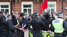 Anti-facist Protest in zentralem London stock video