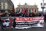 Anti-fascism demonstration in Paris Stock Photo