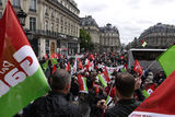 Anti-fascism demonstration in Paris Stock Photos