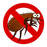 Anti flea sign Stock Photography