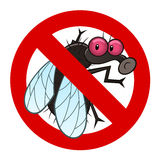 Anti fly sign Royalty Free Stock Photo