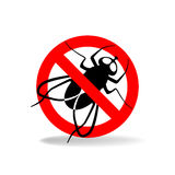 Anti fly vector sign Royalty Free Stock Images