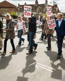 Anti-Fracking Maart - Malton - Ryedale - het Noorden Yortkshire - het UK Royalty-vrije Stock Foto's