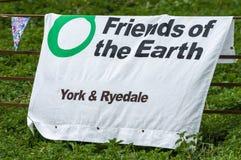 Anti-Fracking Maart - Malton - Ryedale - het Noorden Yortkshire - het UK Royalty-vrije Stock Foto