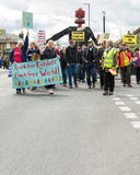 Anti-Fracking March - Malton - Ryedale - North Yorkshire - UK Stock Photography