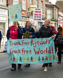 Anti-Fracking March - Fracking - Protest  Royalty Free Stock Photo