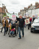 Anti-Fracking March - Malton - Ryedale - North Yorkshire - UK Royalty Free Stock Photography