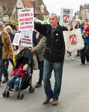 Anti-Fracking March - Fracking - Protest  Stock Image