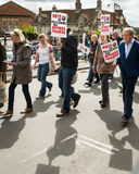 Anti-Fracking March - Malton - Ryedale - North Yorkshire - UK Royalty Free Stock Photos