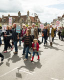 Anti-Fracking March - Malton - Ryedale - North Yorkshire - UK Royalty Free Stock Image