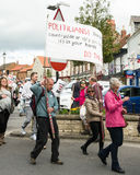 Anti-Fracking March - Malton - Ryedale - North Yorkshire - UK Royalty Free Stock Images