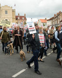 Anti-Fracking March - Fracking - Protest  Royalty Free Stock Photos