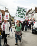 Anti-Fracking March - Fracking - Protest - Green - Green Energy Stock Image