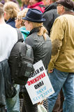 Anti-Fracking March - Fracking - Barclays Bank Royalty Free Stock Images
