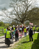 Anti-Fracking March - Fracking - Protestors - protesters Royalty Free Stock Image