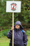 Anti-Fracking March - Fracking - Protestor - protester Stock Photo