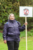 Anti-Fracking March - Fracking - Protestor - protester Royalty Free Stock Photography