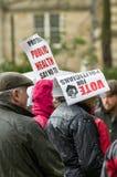 Anti-Fracking March - Fracking - Protestors Stock Image