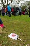 Anti-Fracking March - Malton - Ryedale - North Yorkshire - UK Royalty Free Stock Photo