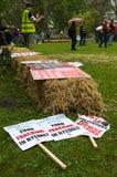Anti-Fracking March - Malton - Ryedale - North Yorkshire - UK Stock Image