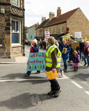 Anti-Fracking mars - Malton - Ryedale - Yortkshire du nord - le R-U Images stock